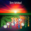 Stock Vector: Abstract celebration background with Christmas decorations