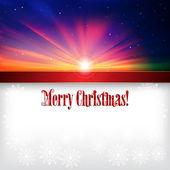 抽象与雪花圣诞背景 — 图库矢量图片