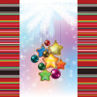 Abstract background with Christmas decorations — Stock Vector