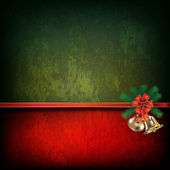 Abstract grunge background with Christmas bells — Stock Vector