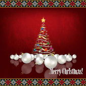 Abstract celebration greeting with Christmas tree — Stockvector