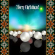 Abstract celebration background with Christmas decorations — 图库矢量图片