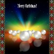 Abstract celebration greeting with Christmas decorations — Imagen vectorial