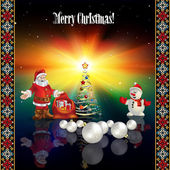 Abstract celebration greeting with Christmas decorations — Vector de stock