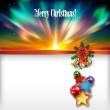 Abstract Christmas background with handbells — Imagen vectorial
