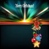 Abstract Christmas background with handbells — Stock Vector