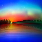 Sfondo sfondo astratto con sunrise — Vettoriale Stock