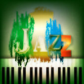 Sfondo astratto musica jazz — Vettoriale Stock