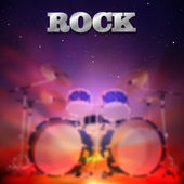 Abstract rock music background — Stock Vector