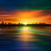 Abstract background with silhouette of Tallinn — Stockvektor