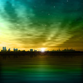 Abstract background with silhouette of Tallinn — Cтоковый вектор