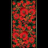çiçek süsleme ile soyut grunge arka plan — Stok Vektör