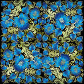 абстрактный гранж-фон с цветочным орнаментом — Cтоковый вектор