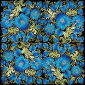 Abstrakt grunge bakgrund med blommig prydnad — Stockvektor