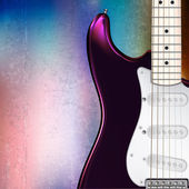 Abstraktní hudební pozadí elektrická kytara — Stock vektor