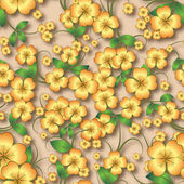 Abstract seamless floral background with spring ornament — Cтоковый вектор