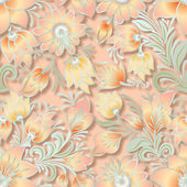 Abstract vintage seamless floral ornament — Cтоковый вектор