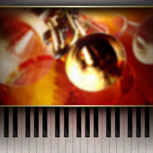 Abstract grunge background with piano on brown — 图库矢量图片