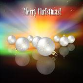 Fundo abstrato celebração com decorações de natal — Vetorial Stock