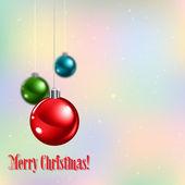 Abstrakt mit weihnachtsschmuck — Stockvektor