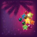 Рождественская елка с украшениями — Cтоковый вектор #6390673