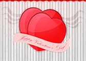 Valentin's day card — Stock Vector