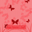 Flying butterflies. Valentine's Day Holiday background. — Stockvektor