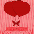 Stock Vector: Valentine's Day Holiday background.