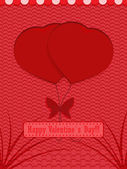 Valentine's Day Holiday background. — Stock Vector