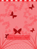 Flying butterflies. Valentine's Day Holiday background. — Stock Vector