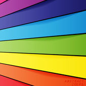 Abstract rainbow shapes background. — Stock Vector