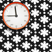 Clock on a black background — Stock Vector