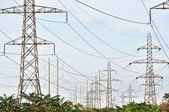 Power Transmission Lines — Stock Photo