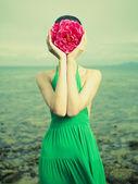 女人的超现实写照 — 图库照片