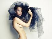 Gorgeous lady under veil — Stock Photo