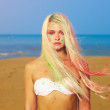 Beautiful blonde in bright Indian colors — ストック写真 #18913995