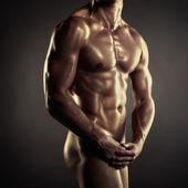 Atleta nudo — Foto Stock
