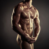 Naked athlete — Foto Stock