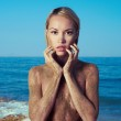 Nude blonde at the sea — Stock Photo #32645097