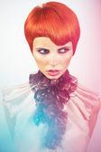 Lady with stylish hairdo — Stock Photo