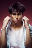 Man with stylish haircut — Stock Photo