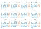 2013 calendario — Vector de stock