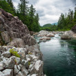 Small river on Sutton Pass, Vancouver Island — Stock Photo
