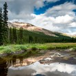 Mountain panoramwith small lake at icefield parkway — Stock Photo #19009001