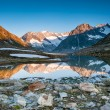 Stock Photo: Mountain panorama from Maerjelensee