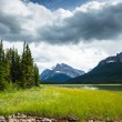 Mistaya lake panorama — Stock Photo