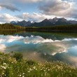 Herbert Lake panorama — Stock Photo