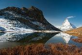 Riffelsee with Matterhorn — Stock Photo