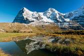 Eiger an Monch mountain panorama — Stock Photo