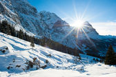 Panoramic scenery above Grindelwald — Stock Photo